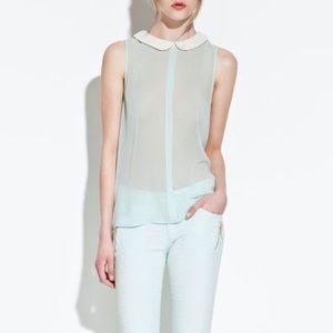 Zara chiffon top as seen on Eleanor Calder XS